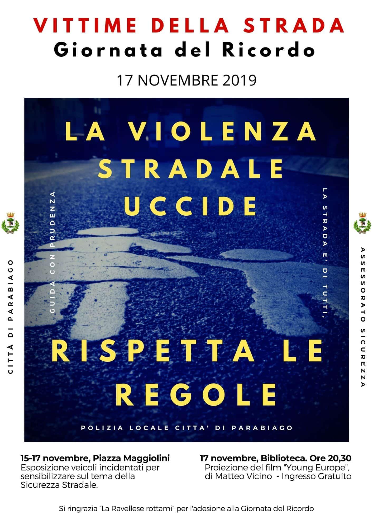 Sicurezza Stradale, eventi a Parabiago per il ricordo delle Vittime 1