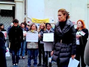 Barbara Benedettelli - Manifestazione #iononcisto - Roma