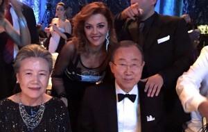 Barbara Benedettelli con Ban ki-Moon e signora
