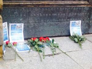 Manifestazione fiori rossi Italia Vera