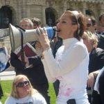 Barbara Benedettelli manifestazione contro amnistia