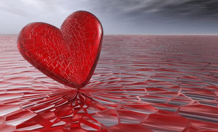 Amore Cuore come vetro